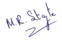 Signature of Mike Stayte (Signature of Mike Stayte)